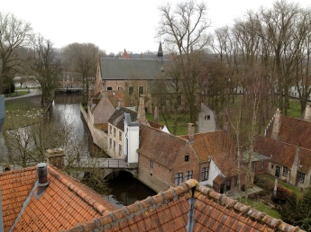 From the top of the brewery in Bruges