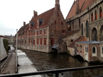 Lots of canals in Bruges