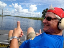 The airboat ride on Lake Kissimee was awesome!