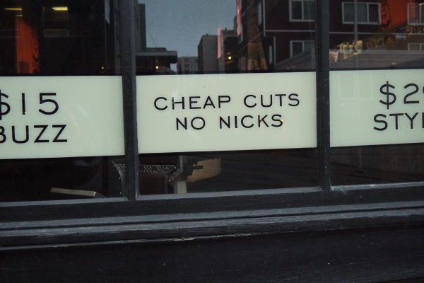 yup, I want my hair cut here