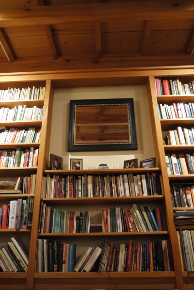 wood and books