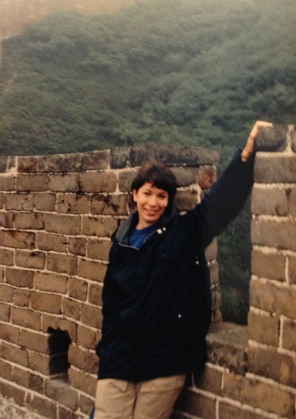 me on the Great Wall of China, 1985
