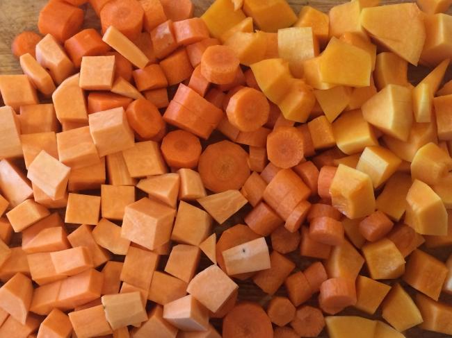 the beginning of orange soup