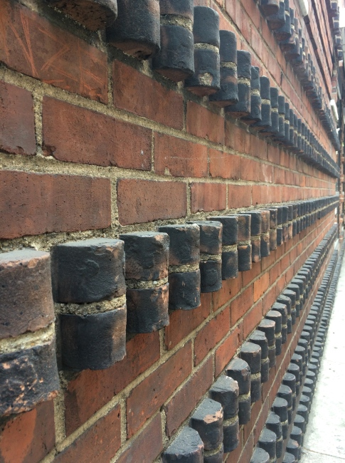 These rows of bricks intrigued me